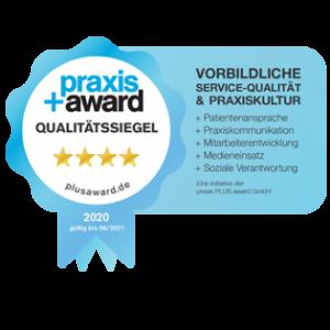 Praxis+ Award Qualitätssiegel